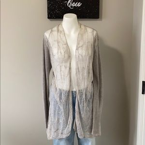 Eileen Fisher Beige Italian Linen Cardigan